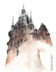 Korean Artist Watercolors Cities She Visits