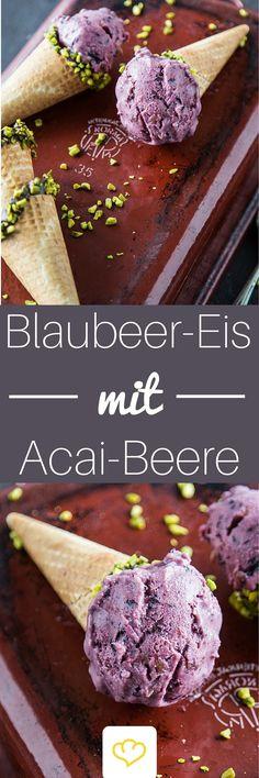 Mach mal blau! Superfood-Eiscreme mit Blaubeeren und Acai