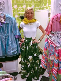 Snappy Turtle with a favorite customer in our fabulous skirt!