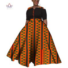 2019 Dashiki African Dresses For Women Colorful Daily Wedding Size S African Dresses For Women Ankle Length Dress Latest African Fashion Dresses, African Dresses For Women, African Print Fashion, African Attire, Nigerian Dress Styles, African Traditional Dresses, Mode Vintage, Ankle Length, Tony Ward
