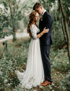 An enchanted forest wedding, surrounded by nature and greenery.