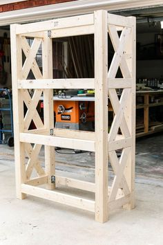 How to build a DIY bookshelf with Simpson Strong-Tie angles #woodworkingideas