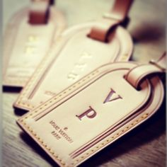 VP Louis Vuitton luggage tags - BRING IT!