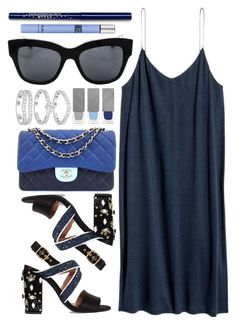 """""""Storyteller"""" by smartbuyglasses-uk ❤ liked on Polyvore featuring Marni, Chanel, Dolce&Gabbana, Burberry, Thierry Mugler and Blue"""