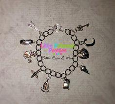 Charm Bracelet Fifty Shades Inspired FSOG Ana's Birthday Gift Replica Bracelets 10 Charms - pinned by pin4etsy.com