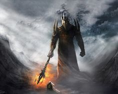Thus he came alone to Angband's gates, and he sounded his horn, and smote once more upon the brazen doors, and challenged Morgoth to come forth to single combat. And Morgoth came.