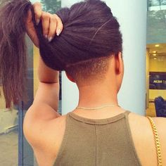Long Straight Hair with Undercut