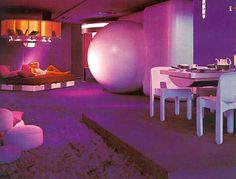 Wohnmodell interior design by Joe Colombo 1969 Futuristic Interior, Futuristic Furniture, Futuristic Design, 80s Interior Design, Classic Interior, Interior And Exterior, Cafe Interior, Art Deco Furniture, Retro Furniture