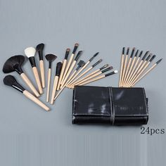 bobbi brown 24 pieces of brushes set with black pouch [cosmetics 1126-1048] - $21.99 : cheap mac makeup