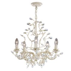 Venetian chandelier gold metal structure, clear crystal drops, damask gold shade, floral motifs