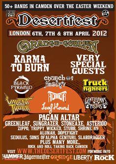 DESERTFEST - Orange Goblin, Karma to Burn, Truck Fighters, Sunglazer plus many more (6-8 April 2012, London,UK)