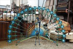 scrap metal yard art