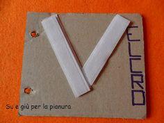 Diy carboard ABC book: letter V