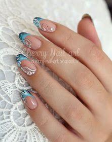 French Nails - Hello my page Nail Art Designs Videos, Gel Nail Designs, French Nail Art, French Tip Nails, Faux Ongles Gel, Cherry Nail Art, Wave Nails, Nagellack Design, Nail Art Kit