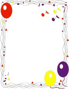 Balloon Border clip art - vector clip art online, royalty free & public domain