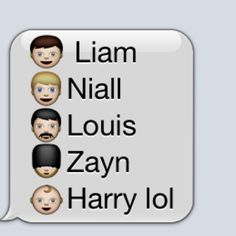 One direction in Emojis!