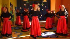 Taniec hiszpański Formal Dance, Strapless Dress Formal, Formal Dresses, Kids Songs, Sport, Excercise, Youtube, Preschool, Activities
