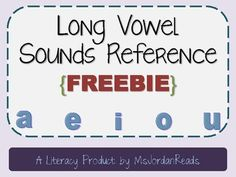 Enjoy a FREE Long Vowel Sounds Reference sheet to use with your students! This one page printable is perfect for introducing or reinforcing the long vowel sounds of a, e, i, o, u! Check out the Long Vowel Word Sorting packet that can be used with this freebie here!Email questions to msjordanreads@gmail.com