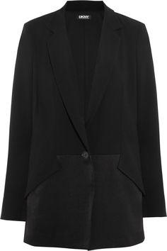DKNY Crepe And Satin Blazer. #dkny #cloth #blazer