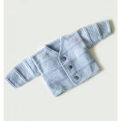Garter Ridge Baby Cardigan Pattern (Knit) - Lion Brand Yarn
