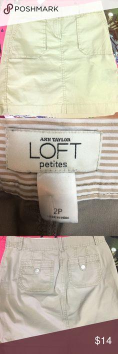 Ann Taylor Loft khaki skirt Excellent condition Ann Taylor Loft petite khaki skirt size 2P Ann Taylor Skirts Midi