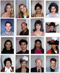 Polaroids of the cast of #Clueless (1995) taken by makeup supervisor Alan Friedman. Awesome find via