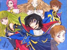 "🎨Code Geass with 💦water color   I hope u like it😰🙊.  😊If u like then subscribe my youtube channel for drawing videos🎥  search on youtube 👉""marish.ru""👈 channel or click this pic👆"