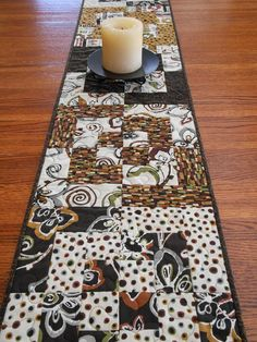 Quilted Table Runner in Modern Designer Prints of by susiquilts