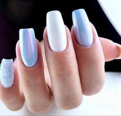 Light Blue Nail Designs, Light Blue Nails, Beauty, Manicures, Badass, Nailart, Nail Salons, Polish, Beauty Illustration