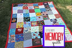 memory quilt--all my son's old baby clothes, blankets, pillows, birp clothes!