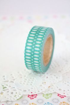 Mint Washi Tape  Paper Decor  Scrapbooking  1 Roll  by pingosdoceu