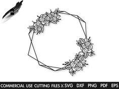 Hand Embroidery Patterns Free, Flower Embroidery Designs, Monogram Frame, Monogram Wedding, Wreath Drawing, Floral Drawing, Flower Frame, Tricks, Hand Lettering