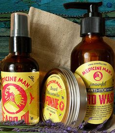 Anti-Itch Beard Care Kit:  Anti-Itch Beard Wash (4 fl oz), Beard Oil (2 fl oz)…