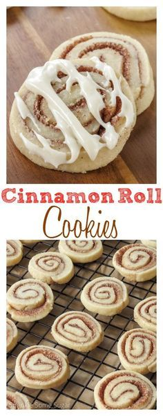 Cinnamon Roll Cookies. Slightly crisp on the outside and soft and chewy on the inside, these cookies taste just like cinnamon rolls in cookie form!