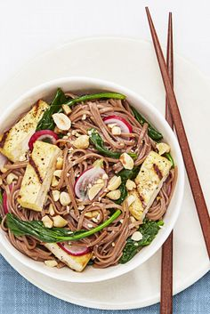 Soba Salad with Grilled Tofu - GoodHousekeeping.com