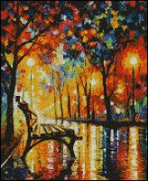 The Loneliness Of Autumn Art Print by Leonid Afremov Artwork Prints, Canvas Art Prints, Cross Stitch Landscape, Landscape Artwork, Autumn Art, Love Painting, Knife Painting, Le Point, Cross Stitch Patterns