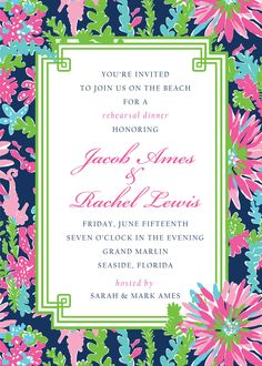 Trippin and Sippin Invitations by Lilly Pulitzer® | Paper & Pearl