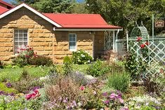Ou Kliphuis - Accommodation in Clarens. Clarens Self Catering Apartment, Flatlet Accommodation, Northern & Eastern Free State, Free State, South Africa Small Kitchenette, Abseiling, Air Balloon Rides, Free State, Heated Towel Rail, Rafting, Main Street, Old Houses, Beautiful Gardens
