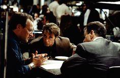 Michael Mann preparing Pacino and De Niro for their famous scene in Heat.
