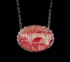 Broken china jewelry by Laura Beth Love Dishfunctional Designs