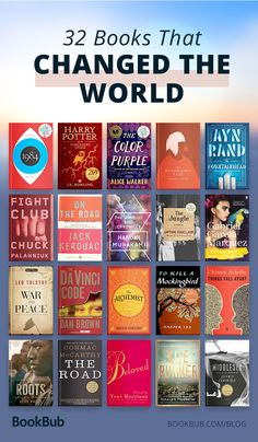 32 books that changed the world and are worth adding to your reading list. 32 libros que cambiaron el mundo y que vale la pena agregar a su lista de lectura. Books Everyone Should Read, Best Books To Read, I Love Books, My Books, Books To Read In Your 20s, Books To Read Before You Die, Great Books, Teen Books, Good Books To Read