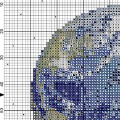 PDF Cross Stitch pattern 0053.Earth planet INSTANT
