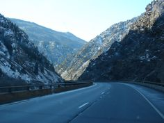 Heading West On I-70 Traveling Through The Rocky Mountain Region During A Trip To Utah. This Is Some Scenery West Of The Continental Divide. This Is The Glenwood Canyon Area East Of Glenwood Springs, Colorado. The Colorado River Is On The Left Down The Enbankment. I Took This Photo With A Sony DSC-H2 Camera On November 18, 2006.