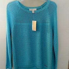 NWT Michael Kors Shirt NWT turquoise long sleeve shirt Michael Kors Tops Tees - Long Sleeve