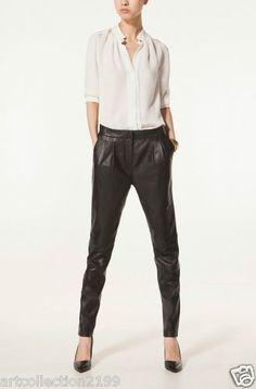 Massimo Dutti Zara Group Woman Fall Winter 2013 Collection Black Leather Trouser | eBay