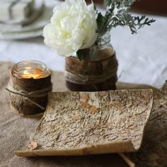 Birch Bark Sheets – Set Of 10 - table decorations