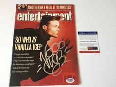 Vanilla Ice signed Magazine ENTERTAINMENT WEEKLY March 15, 1991 Rap Rapper PSA