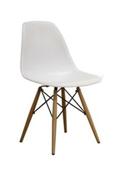 Wood Leg Dining Chair in White