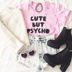 """Cute but Psycho"" Pastel Goth Outfit"