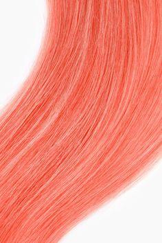 Coral Pink Hair Dye #coral #pink #hairdye #hair #dye #lunartides #goodbyebread Peachy Pink Hair, Pink Hair Dye, Hair Color Pink, Cool Hair Color, Blue Hair, Dyed Hair, Pastel Coral Hair, Mehndi Designs, Dark Burgundy Hair Color